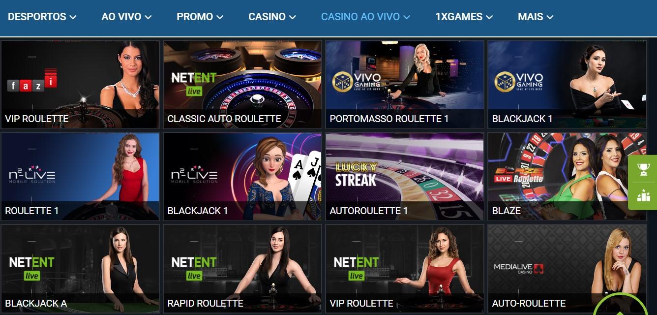 1xBet live – diversidade n'um casino magnífico